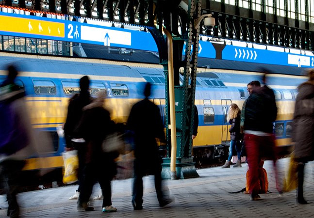 Sinalização inteligente mostra quais os vagões vazios nos trens na Holanda