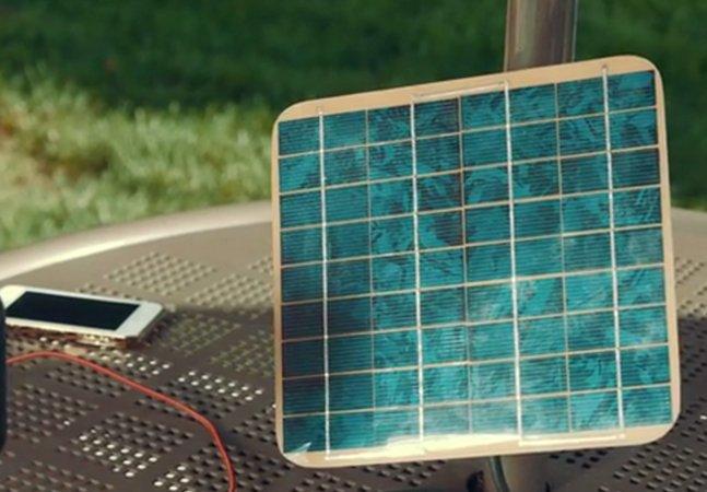 Carregador solar de bolso garante energia limpa para os seus gadgets
