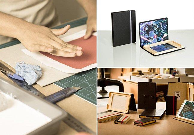 Marca brasileira lança cases vintage feitas à mão que vão mudar pra sempre a aparência do seu gadget