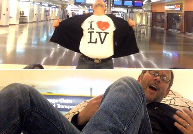 O que você faria se passasse a noite sozinho em um aeroporto? Esse homem fez um clipe que está conquistando a internet