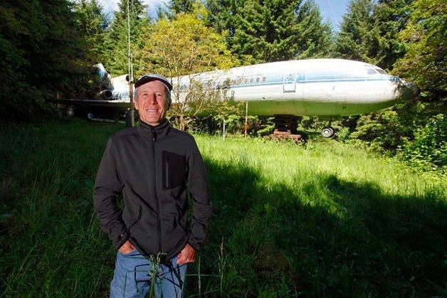 Homem vive dentro de um Boeing