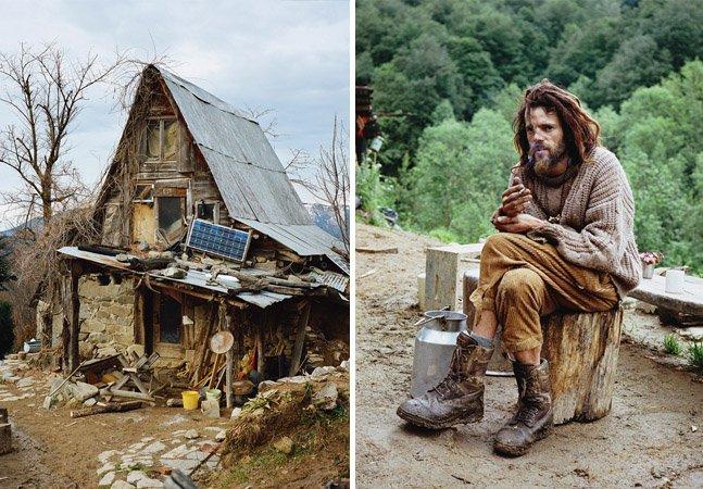 Série de fotos fascinante retrata europeus que abandonaram a civilização para viver em meio à natureza