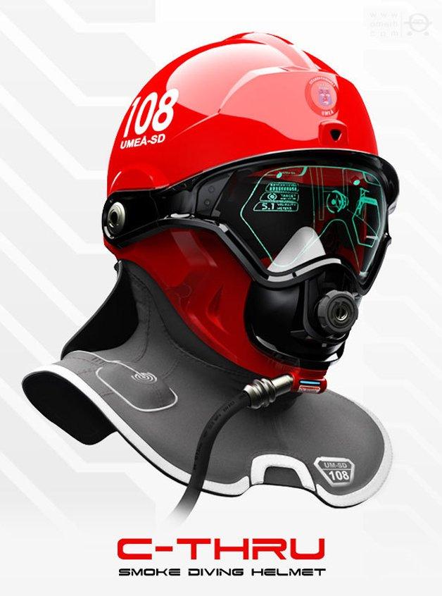 Capacete com realidade aumentada para bombeiros