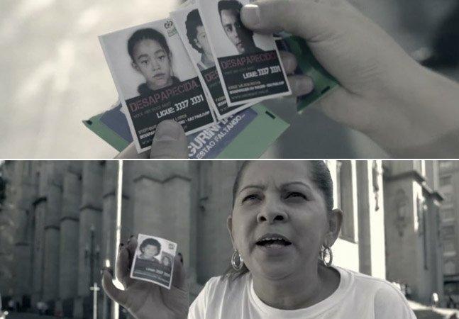 Crianças desaparecidas são estampadas em álbum de figurinhas distribuído pelas ruas