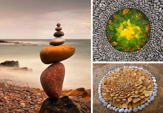 Artista usa elementos da natureza para criar obras de arte geométricas