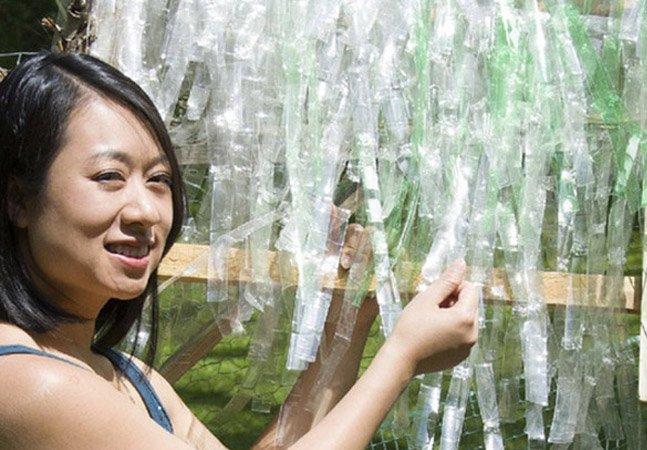 ONG transforma garrafas PET em cobertura para telhados