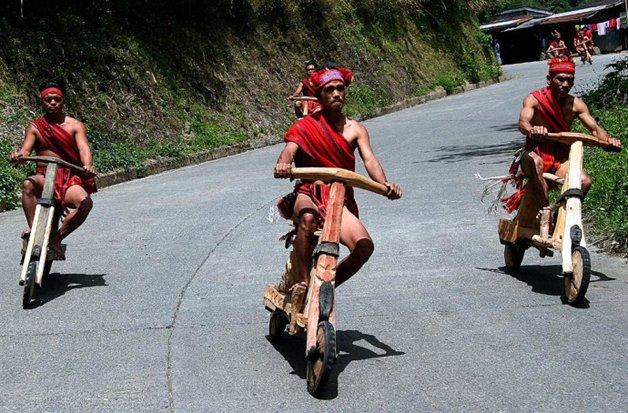Scooter de madeira