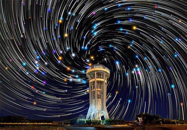 Fotógrafo capta estrelas no céu de uma forma que você nunca viu antes