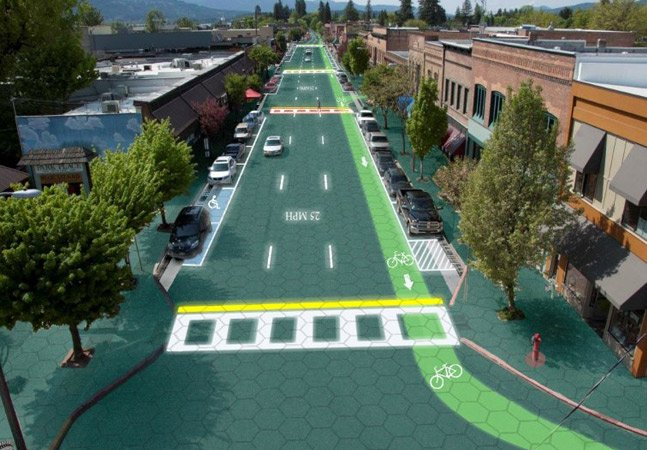 Engenheiro cria projeto de estradas inovadoras feitas a partir de painéis solares