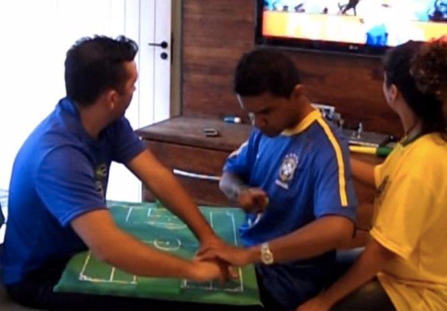 Como um deficiente visual e auditivo acompanha os jogos do Brasil