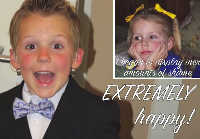 Pais captam em vídeo os passos da transformação do filho transgênero de 6 anos