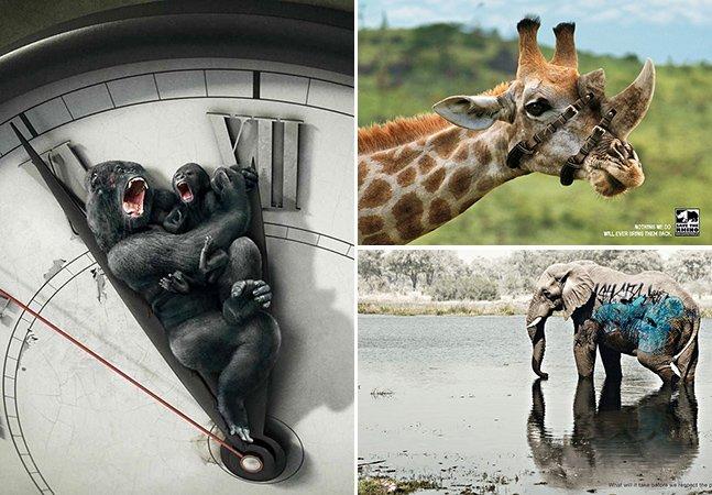 30 anúncios com animais que vão fazer você repensar seu estilo de vida