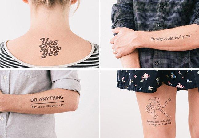 Empresa cria tatuagens temporárias com trechos de livros famosos e faz sucesso no Kickstarter