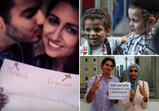 Movimento reúne fotos de árabes e judeus que se recusam a ser inimigos