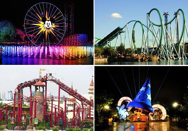 10 parques de diversões fantásticos ao redor do mundo