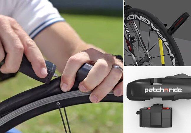 Ferramenta inovadora conserta pneus furados de bicicletas em apenas 60 segundos