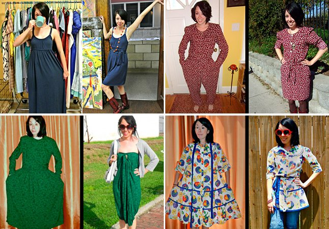 Estilista usa criatividade para transformar roupas usadas em looks fantásticos