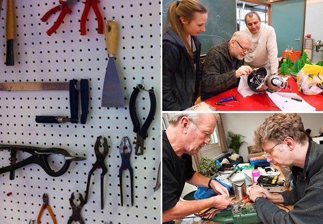 Os cafés onde voluntários consertam coisas de graça para protestar contra a obsolescência programada