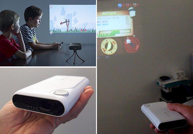 Empresa cria projetor que transforma qualquer parede ou superfície em uma tela sensível ao toque