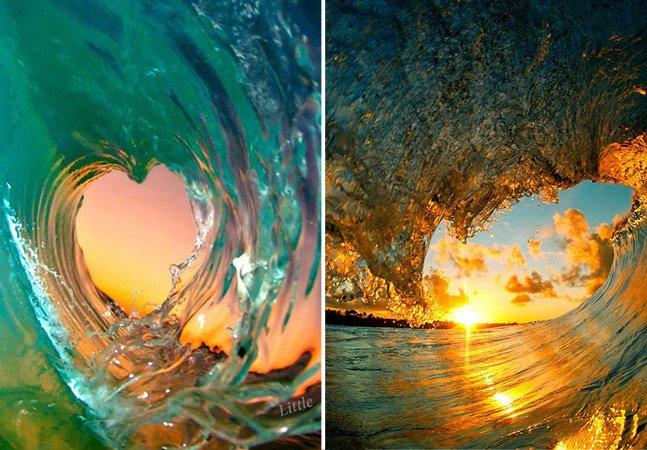 Fotógrafo mergulha nas ondas para registrar de perto a força e a beleza do mar
