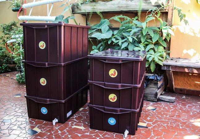 Prefeitura de SP doa composteiras à população para reduzir lixo orgânico em aterros