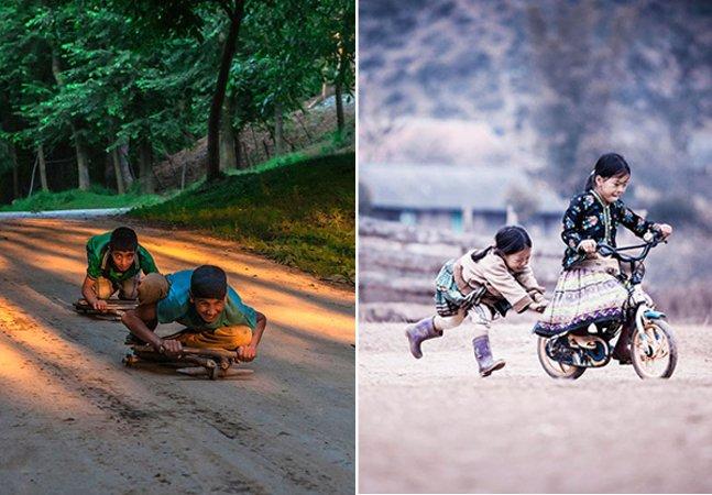 Série de fotos mágica mostra como as crianças brincam ao redor do mundo