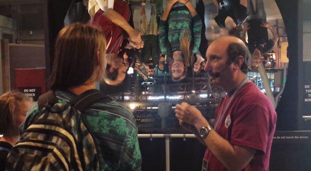 Espelho no Exploratorium de São Francisco