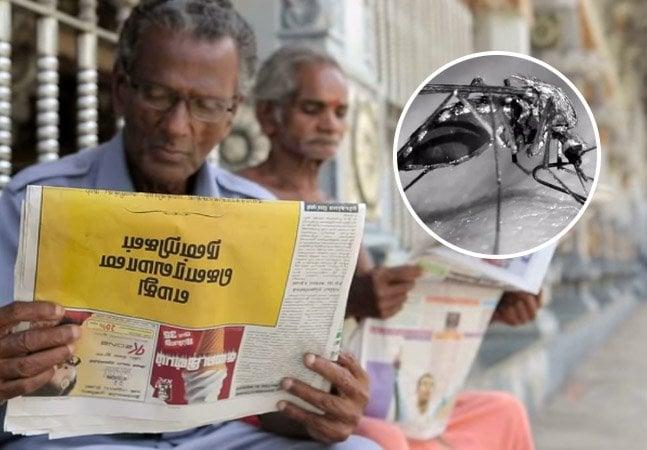 Jornal no Sri Lanka é impresso com tinta capaz de repelir mosquito da dengue