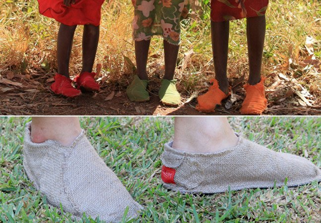 Projeto ajuda moradores de comunidades carentes na África a criar seus próprios sapatos
