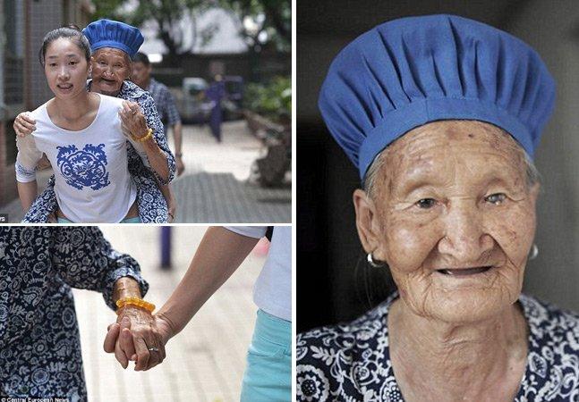 Para não deixar avó sozinha, jovem a leva consigo para o trabalho todos os dias como forma de gratidão