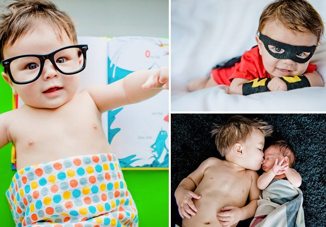 Ele é engenheiro mecânico e usa o tempo livre para tirar fotografias encantadoras dos dois filhos