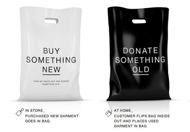 Loja incentiva clientes a doar roupa antiga no momento em que compram uma peça nova