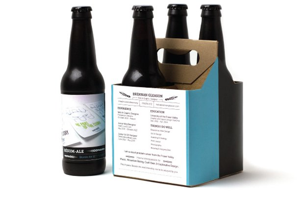 Resum-Ale, o currículo em forma de cerveja
