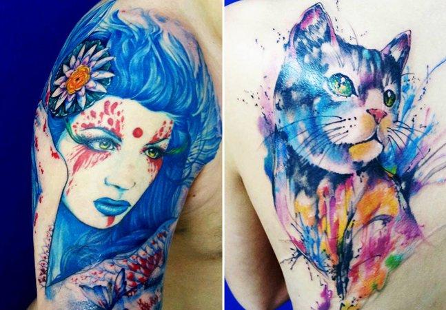 Arte na pele: conheça a tatuagem colorida do brasileiro Roberto Nascimento