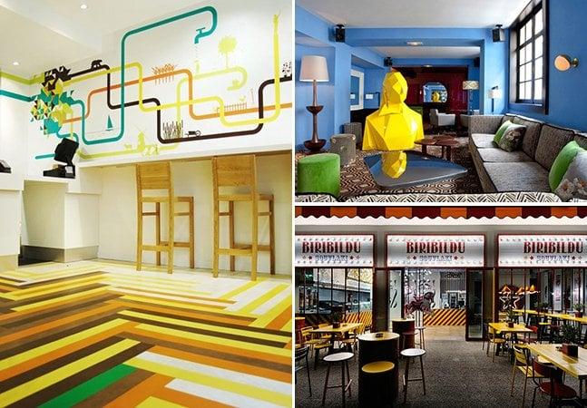 Cinco restaurantes coloridos e criativos para você visitar nas suas próximas viagens