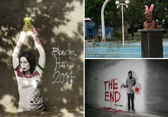 "A street art provocativa e de protesto do ""Banksy do Irã"""
