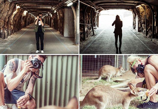 Sem selfie: casal encontra forma criativa de registrar suas viagens