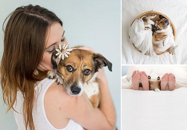 Casal cria série fotográfica adorável para mostrar que um cão também é um membro da família