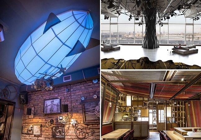 19 bares e restaurantes com designs interiores incríveis ao redor do mundo