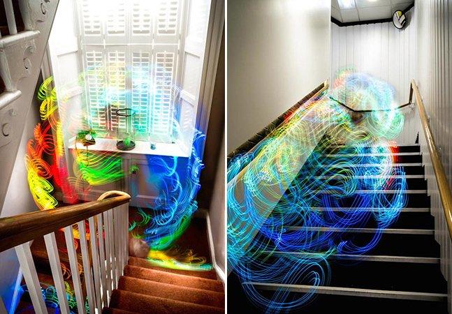 Designer mostra como seriam os sinais Wi-Fi se os pudéssemos ver em imagens em longa exposição