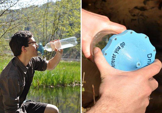 Estudante cria garrafa que filtra água e promete evitar o desperdício e melhorar a vida de comunidades carentes