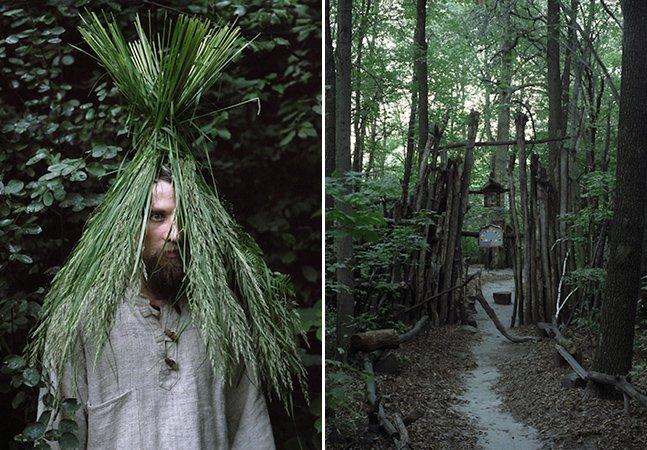 Série fotográfica retrata pessoas que escolheram viver nas florestas