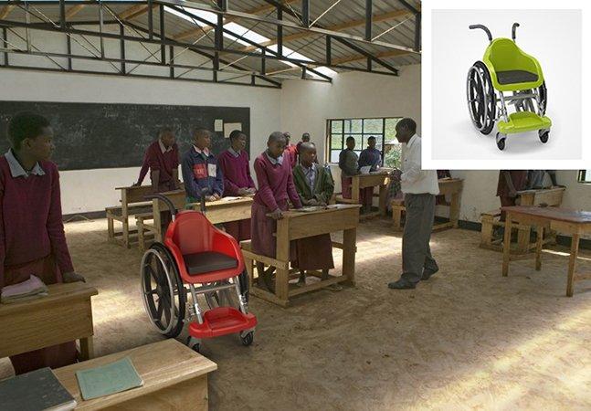 Conheça a cadeira de rodas criada especialmente para crianças