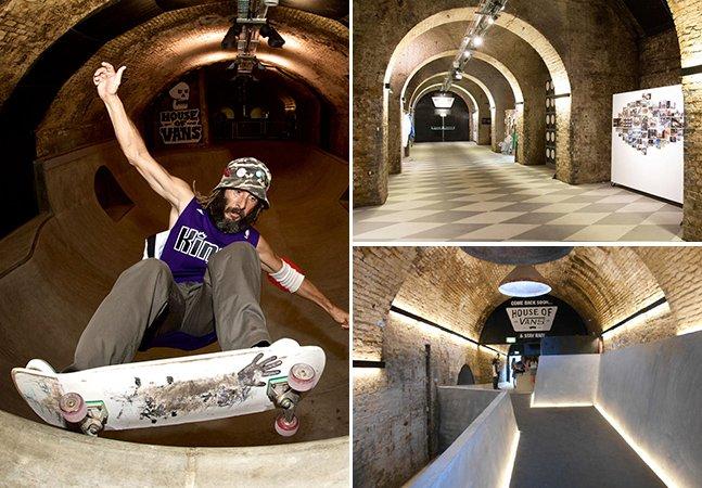 Londres inaugura pista de skate  debaixo de uma estação de trem com oferta cultural variada