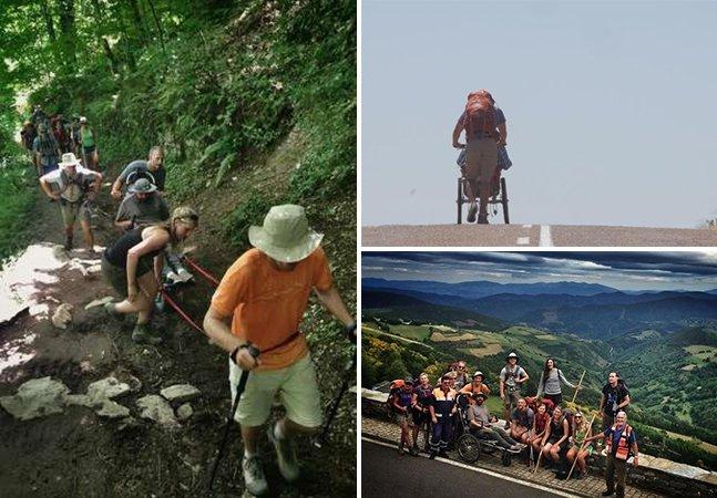 Conheça o homem que empurrou um amigo cadeirante pelos 800km do Caminho de Santiago, na Espanha
