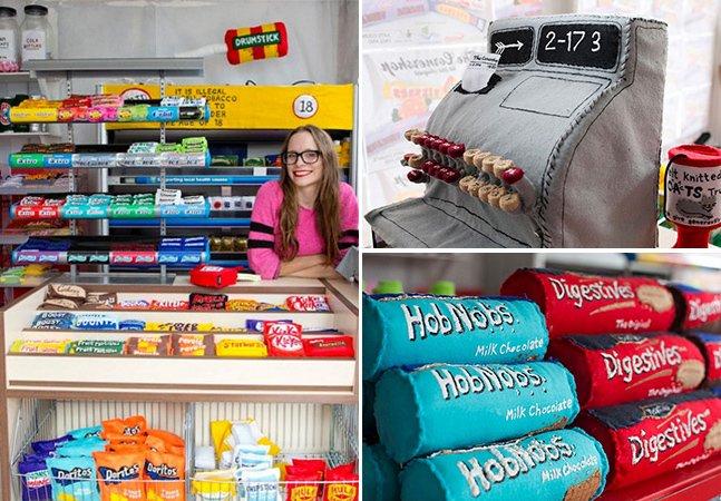 Artista cria loja de conveniência onde todos os produtos são inteiramente feitos de feltro