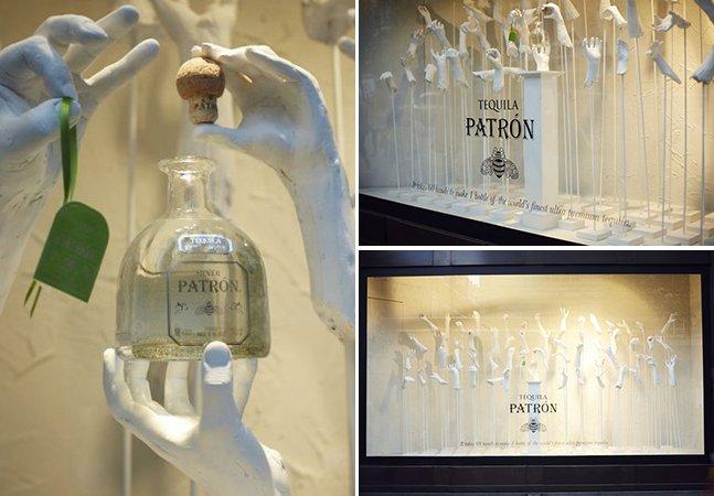 Vitrine criativa em Londres celebra processo manual de fabricação de tequila