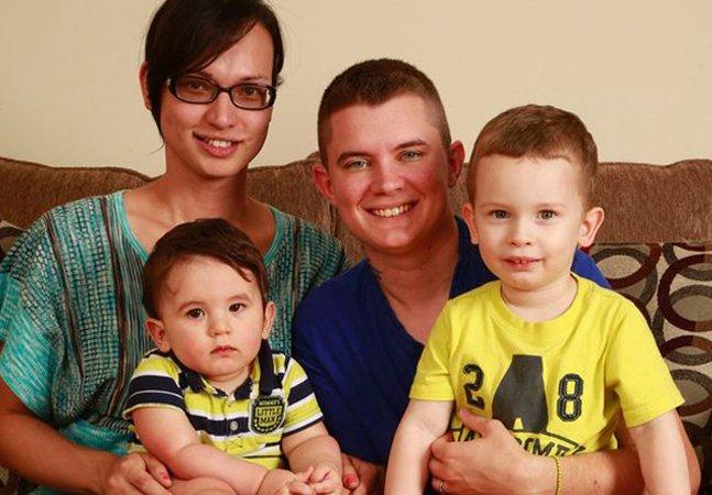 A inspiradora história do casal de transexuais que tem dois filhos