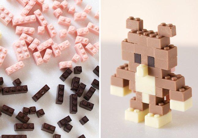 Designer cria peças de LEGO comestíveis em quatro sabores de chocolate