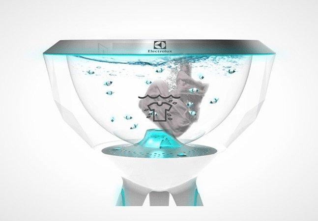 """A máquina de lavar inovadora que usa """"peixes robô"""" pra lavar sua roupas e dispensa o uso de sabão"""